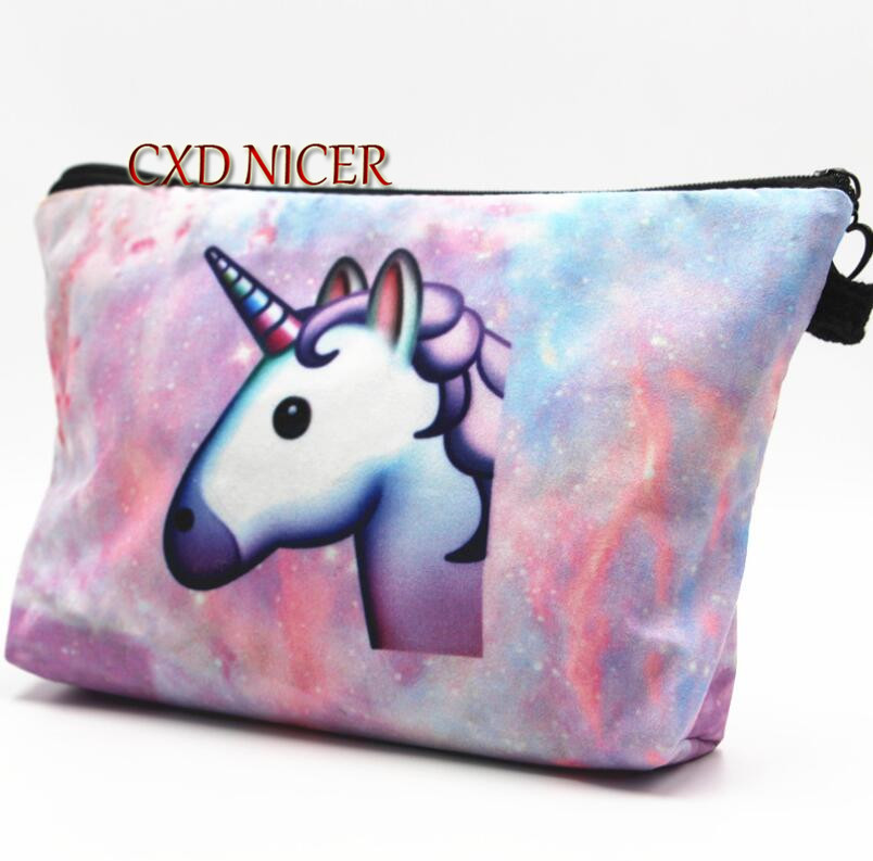 Hot Burst Unicorn Cosmetic Bag Different Color Pouch Make Up Cosmetic Stationery Office School Supplies Pencil Case DD1946 women make up cases small cosmetic bags child girls boys stationery school supplies
