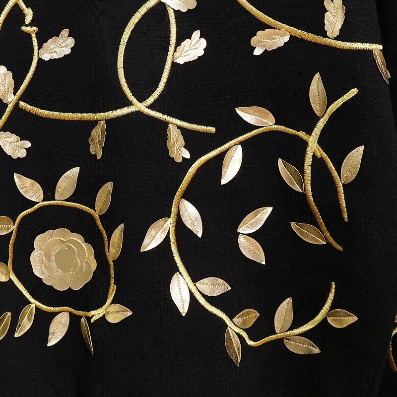 Cakucool Set 2 Embroid Harem Femmes Ensemble grey Chandal Pantalon Top Floral Mujer Knit Printemps Tenues Pièce Casual De Or Black Femme Et wFFqC4rx