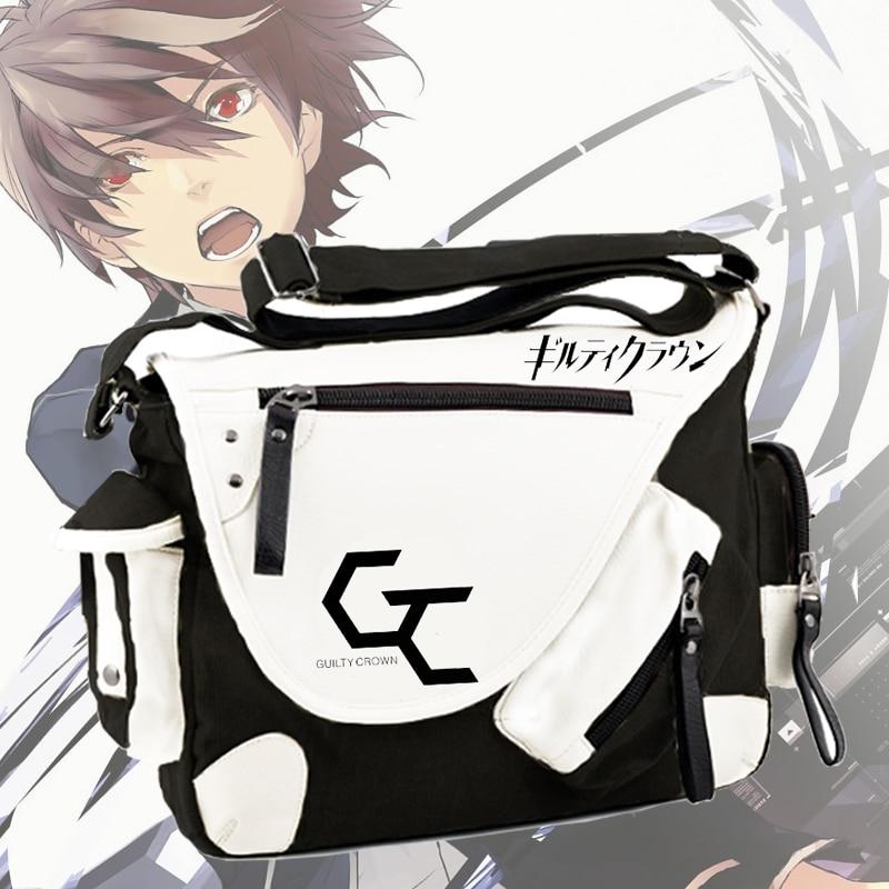 Guilty Crown Japan Anime School Bags Fashion Cool Yuzuriha Inori Cos Messenger Bag Men Women Bookbag