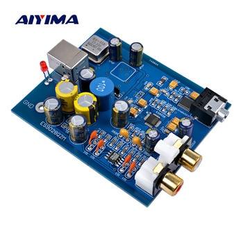 AIYIMA MIni USB Decoder Board ES9028K2M+SA9023 Fever Audio DAC Sound Card Decoding Module DIY For Power Amplifiers Home Theater waveblaster module midi interface board sound card wavetable