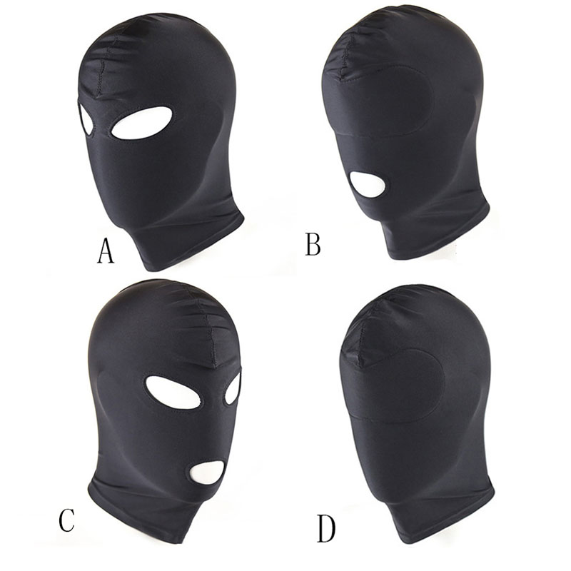 BDSM Fetish Mask Hood Sexy Toys Open Mouth Eye Bondage SLAVE Mask Cosplay Slave Punish Head Gear SUBMISSIOON Game Sex Products