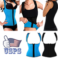 Corset Body Shaper Neoprene Waist Trainer Underbust Zipper Slimming Cincher Vest Workout Weight Loss Tummy Control Shapwear