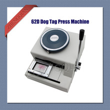 Manual Dog Tag  embosser press machine 62D characters