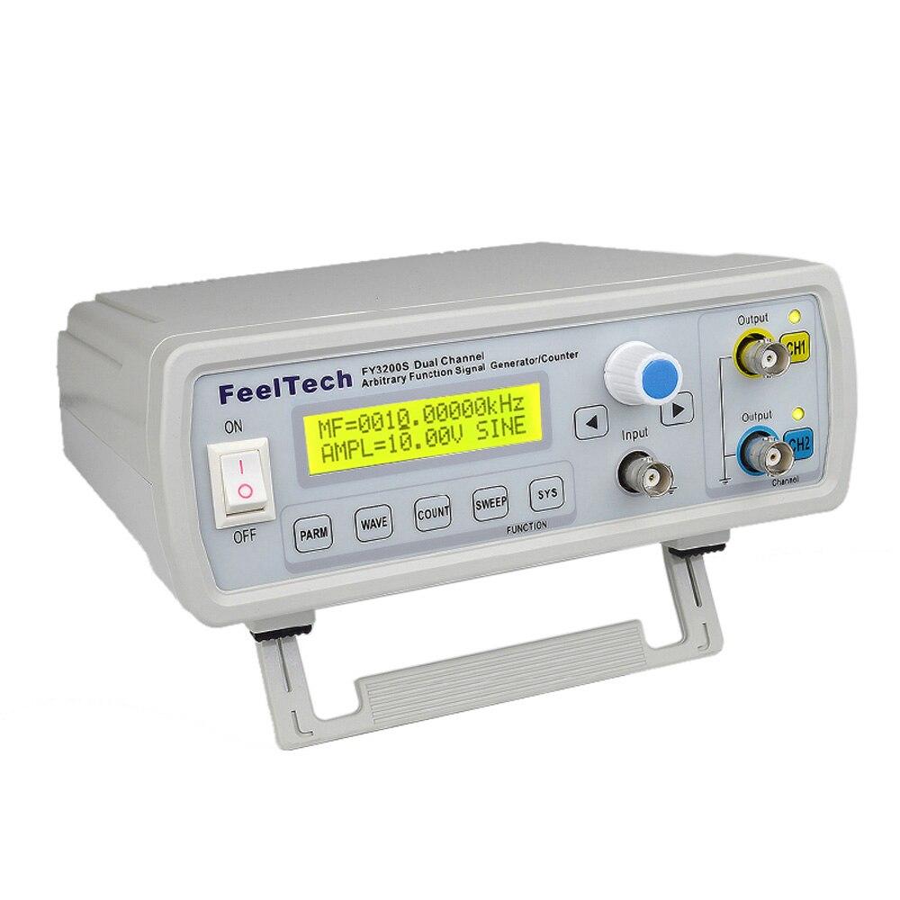 Générateur de signal numérique DDS générateur de fonction double canal onde sinusoïdale générateur de fréquence de forme d'onde arbitraire 250MSa/s 20MHz