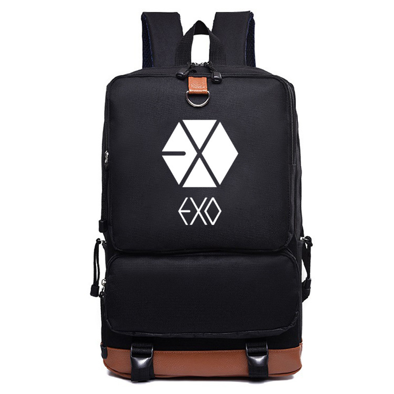 Helpful Exo Periphery Backpack Female Student Fluorescent Backpack Lu Han The Same Paragraph School Bag Buy One Give One Luggage & Bags Backpacks