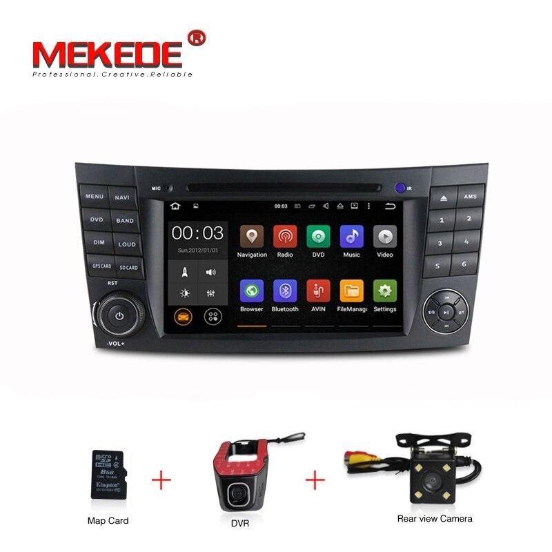 В наличии БЕСПЛАТНАЯ ДОСТАВКА Android 7.1 автомобиль DVD GPS Мультимедиа Радио для mercedes/Benz W211 W209 W219 W463 E- класс 2-DIN navi-плеер
