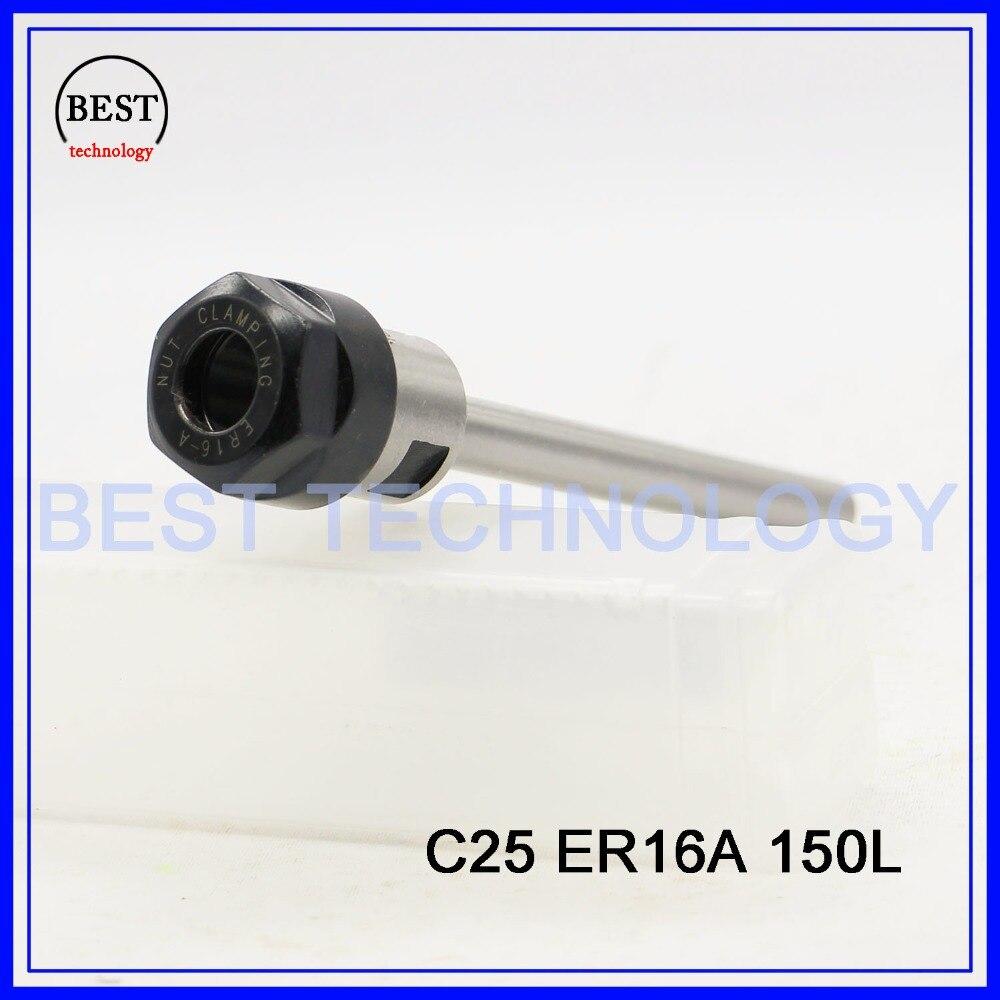 C25 ER16A 150L Collet Chuck Hoder Straight  Shank Chuck Collect Extension Rod  ER16 Collet ER16A Nut  for CNC Milling