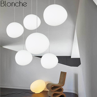 Italien Foscarini Gregg Suspension Lampe Glas Anhänger Lichter Moderne Led Unregelmäßigen Hängen Lampe Esszimmer Küche Leuchten-in Pendelleuchten aus Licht & Beleuchtung bei
