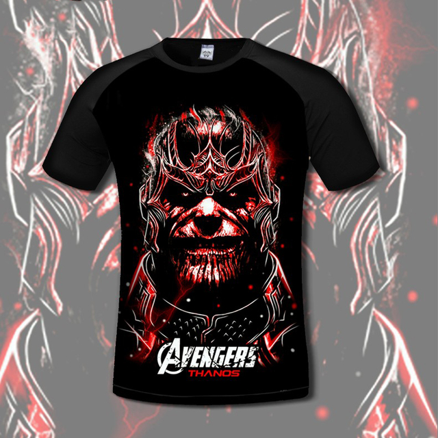 ddeab812 NEW Thanos T- SHIRT men women Marvel The Avengers 3 Infinity War clothing  Quick-drying short sleeve t shirt Iron Man