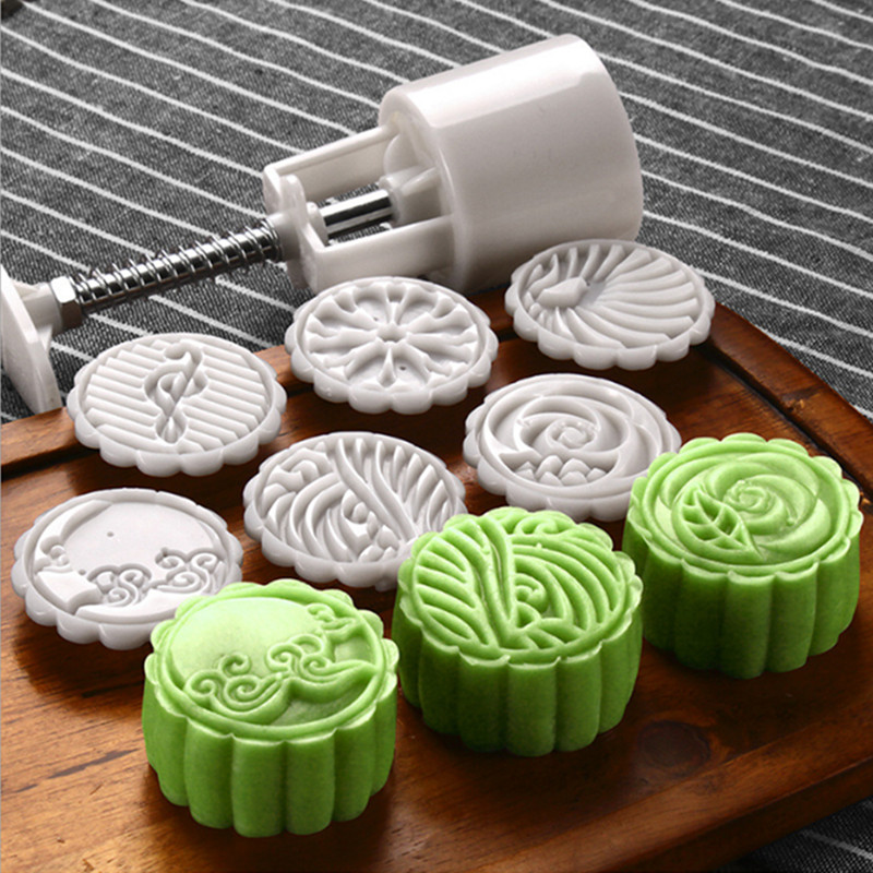 e65b62d70 DIY Moon Cake Mold Optional 25g 50g 75g Mooncake Tools Plastic Pastry Cake  Plungers Hand Press