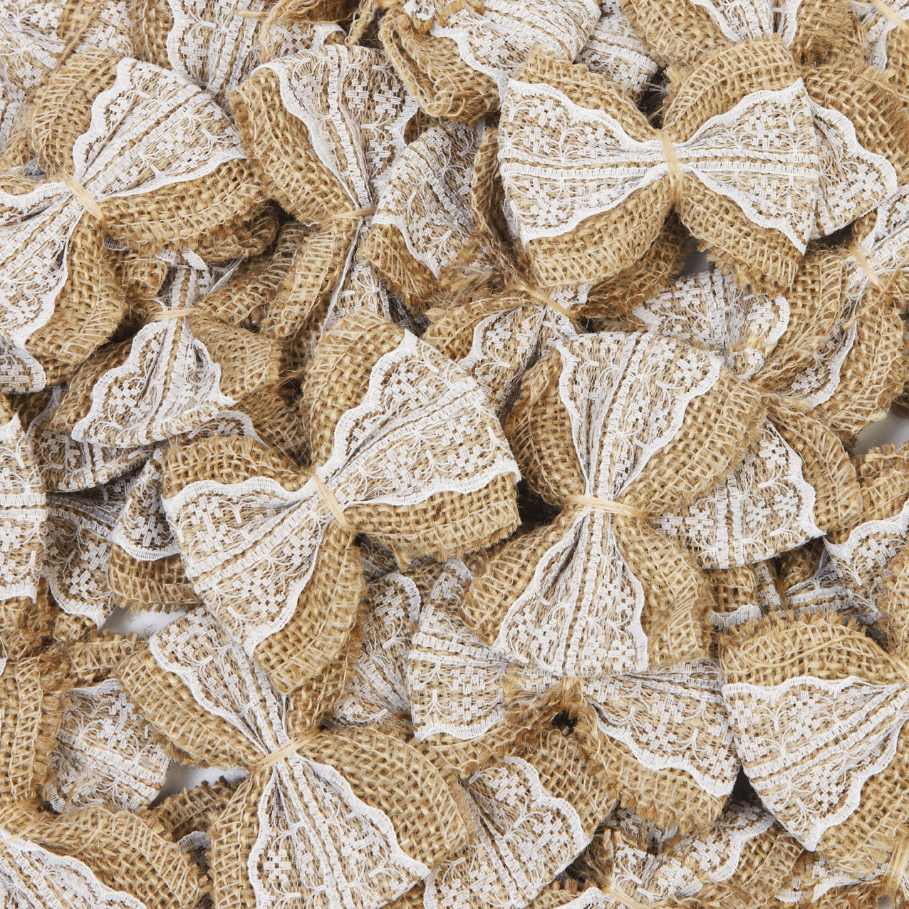 10 Pieces Pack Hessian Burlap Lace Bows Embellishments Chic Christmas Tree Rustic Wedding Craft L1 In Party Diy Decorations From Home Garden On