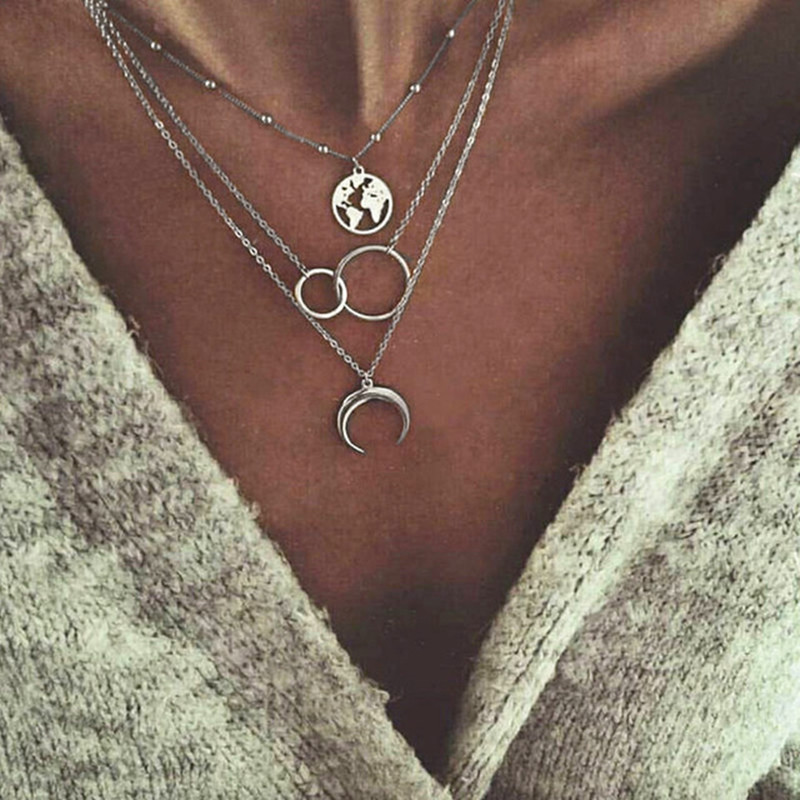 New-Multilayer-Moon-Earth-Map-Necklaces-Pendant-For-Women-Vintage-Charm-Silver-Choker-Necklace-2019-Bohemian.jpg_640x640