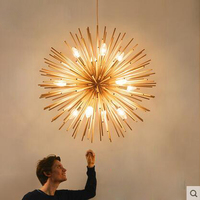 Post Modern Spark Ball Restaurant Chandeliers Nordic Cozy Bedroom Personality Originality Fashion Simple Living Room LED