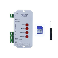 T1000S SD Card WS2801 WS2811 WS2812 WS1903 LPD6803 LED 2048 Pixels Controller DC5 24V T 1000S