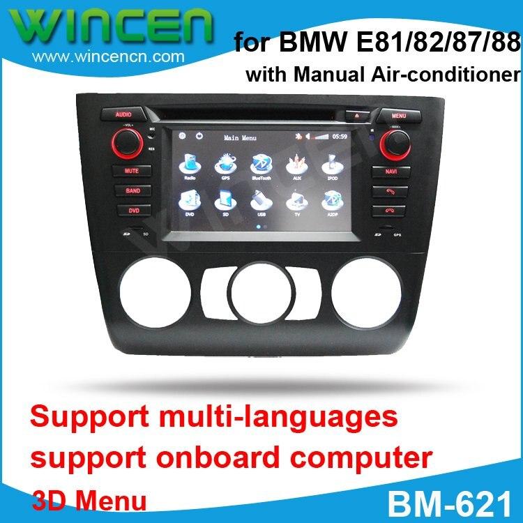6,2 автомобильный DVD gps плеер для BMW E81/82/87/88 с 3D меню мульти языков Высокое качество Бесплатная доставка + бесплатная карта с картой!