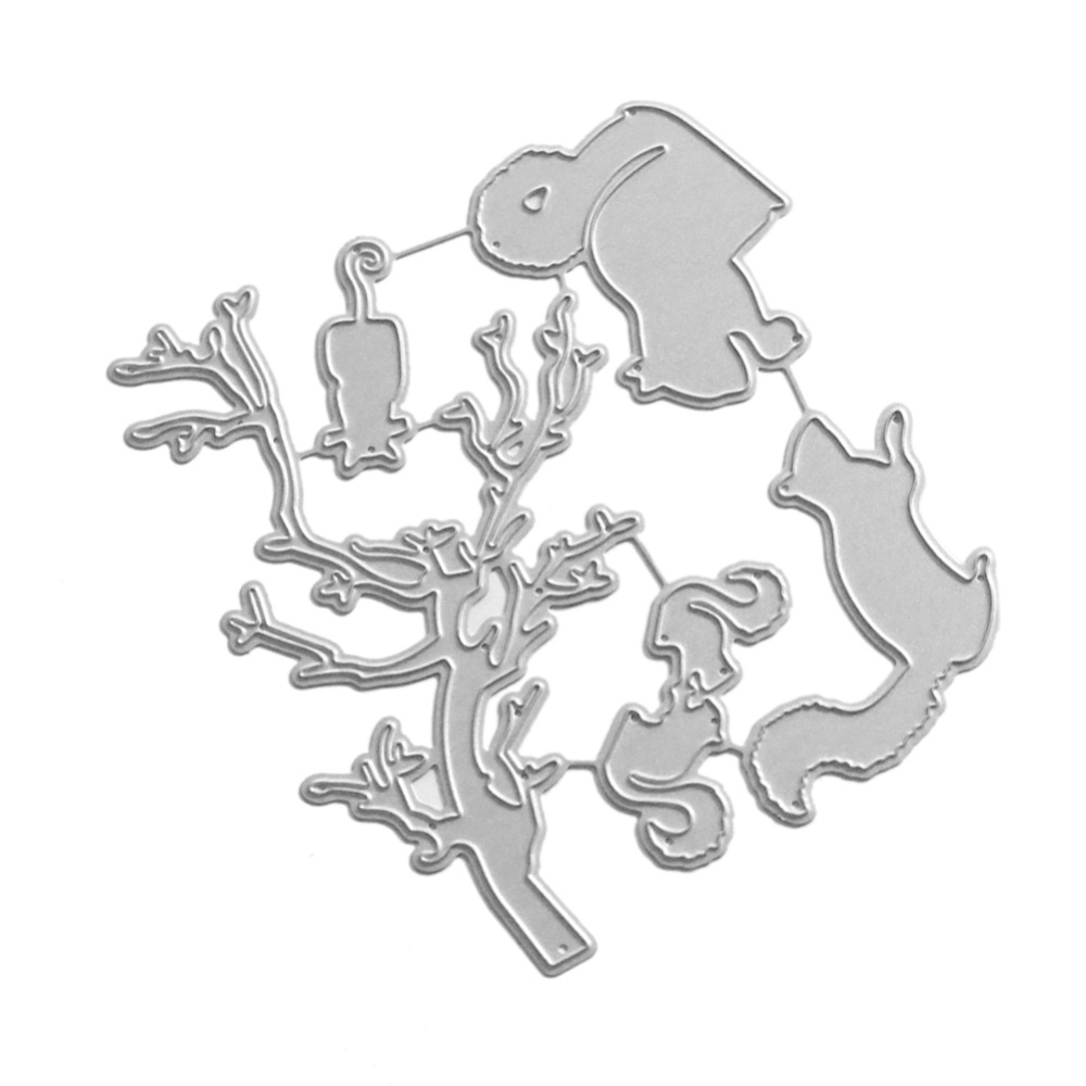 107*97MM new for love New scrapbooking Five foraging squirrels Shape Metal steel cutting die Book photo album art card Dies Cut