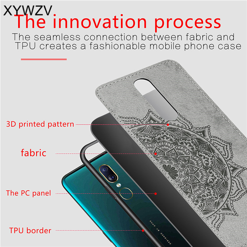 Image 5 - For OPPO A9 Case Shockproof Cover Soft Rubber Silicone Luxury Cloth Texture Phone Case For OPPO A9 Back Cover For OPPO A9 Fundas-in Fitted Cases from Cellphones & Telecommunications