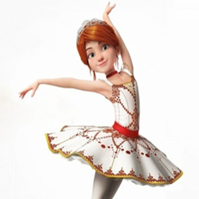 2021 New Movie Ballerina Felicie Cosplay Costume for Girls Party Clothes Halloween Costume for Kids dancing christmas dress girl 6