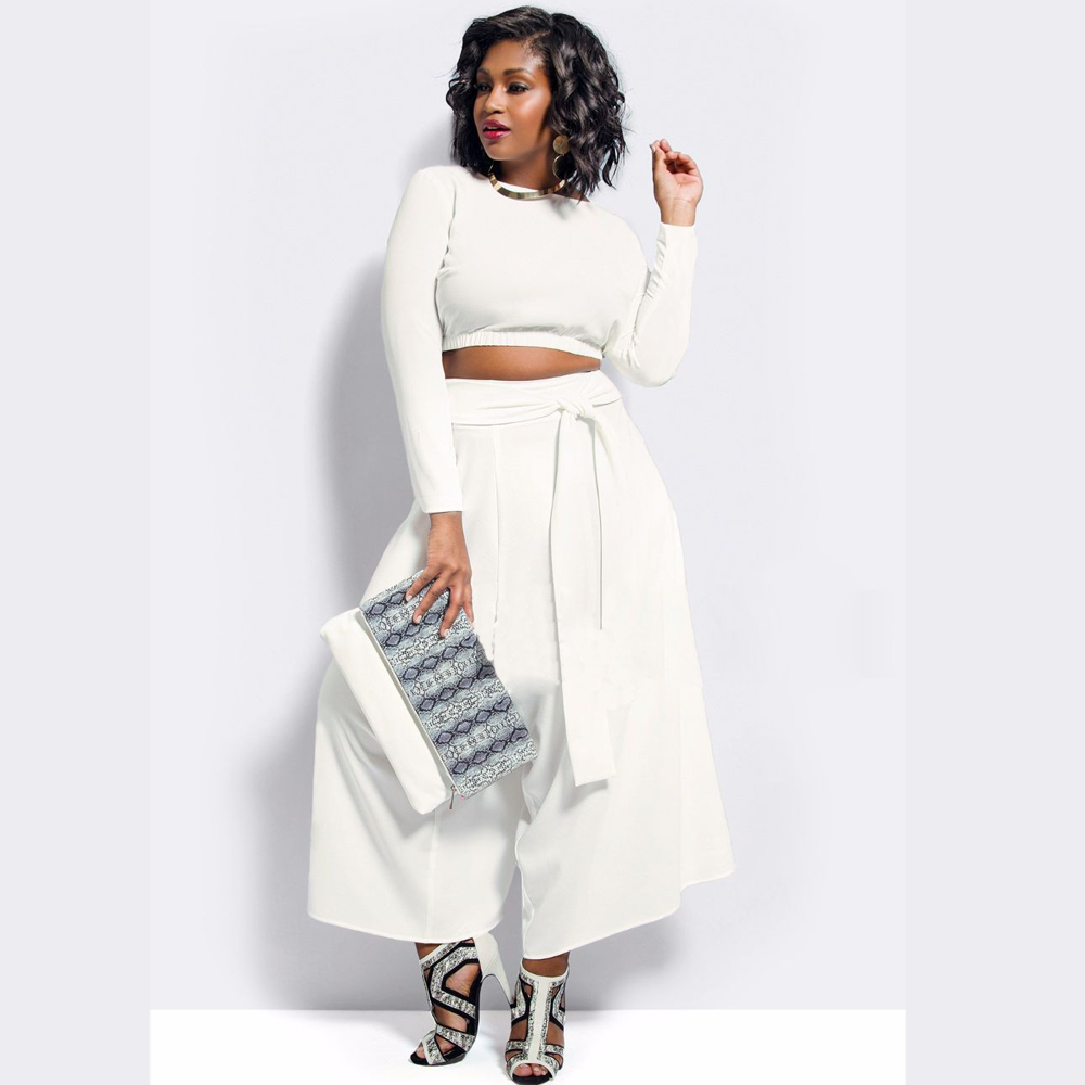 Plus Size Winter White Pants - Fat Pants