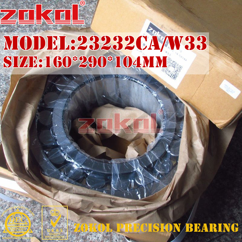ZOKOL bearing 23232CA W33 Spherical Roller bearing 3053232HK self-aligning roller bearing 160*290*104mm zokol bearing 23024ca w33 spherical roller bearing 3053124hk self aligning roller bearing 120 180 46mm