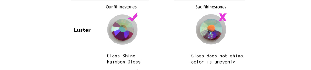 Стразы для ногтей кристалл плоская задняя сторона круглая форма