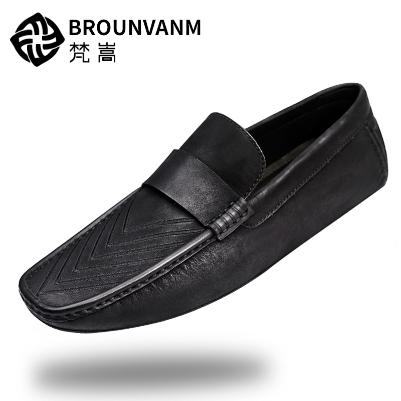 New Spring Summer Top Genuine Leather Leisure Men Loafers Slip On Driving Moccasin Man Casual Boat Shoes 2015 new spring and summer british top fashion leisure driving full grain embossed genuine leather slip on men s loafers shoes