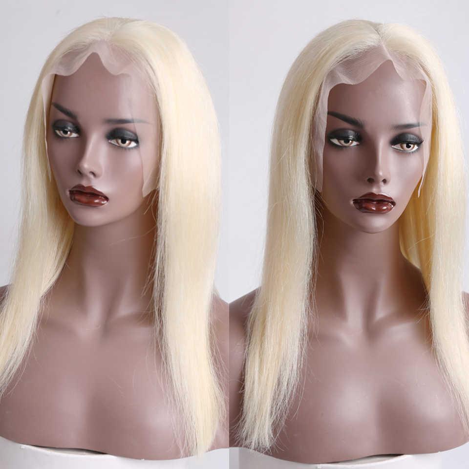 130% плотность синтетические волосы по-настоящему человеческие волосы парик блондинка короткие Боб прямые синтетические волосы бразильские Remy человеческие волосы предварительно выщипанные волосы BUQI