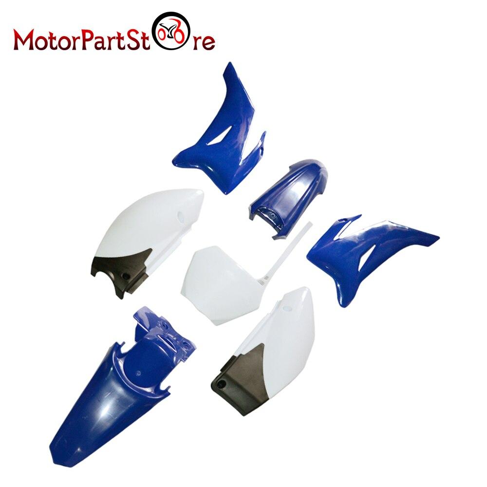Новые синие Пластик Fender Средства ухода за кожей крышка обтекателя комплект для Yamaha ttr110 TTR 110 Пит Байк Off Road Мотоцикл *