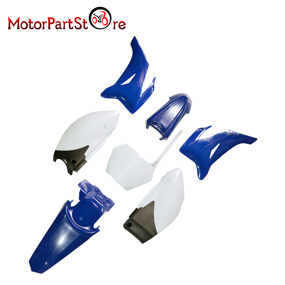 New Blue Plastic Fender Body Cover Fairing Kit for YAMAHA TTR110 TTR 110 Pit Dirt Bike Off Road Motorcycle *