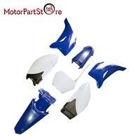 New Blue Plastic Fender Body Cover Fairing Kit For YAMAHA TTR110 TTR 110 Pit Dirt Bike