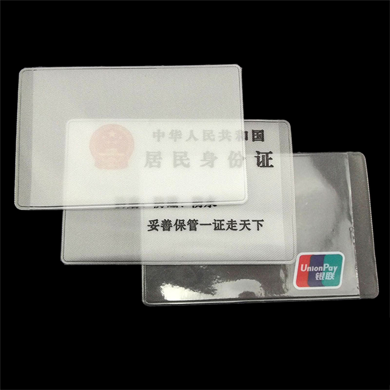10Pcs Transparent Frosted PVC Business ID Cards Covers Clear Holder Cases Travel Ticket Holders Waterproof Protect Bags  9.6*6cm