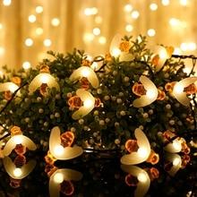 10 светодиодов 20 светодиодов 30 светодиодов 40 светодиодов медовая пчела светодиодный светильник s Открытый водонепроницаемый сад патио забор освещение беседки для рождественской вечеринки
