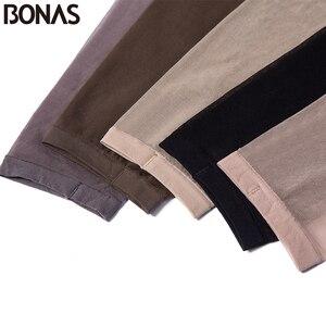 Image 5 - BONAS Thiết Kế Thương Hiệu Mở Toe T Đáy Quần 15D Nylon Quần Phụ Nữ Thời Trang Spandex Co Giãn Pantyhose Transparent Nữ