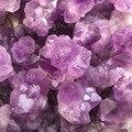 3 pcs 100% natural bruto ametista pedra preciosa flor de Cristal De quartzo ponto cluster Cura Metafísica de pedra para fazer jóias
