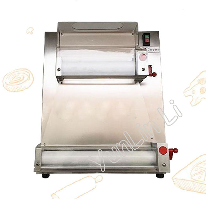 Stainless steel pizza bottom press machine commercial 3-15 inch pizza dough machine easy to operate 220V 370W DR-1V electric pizza dough press machine for rolling dough dough sheet making machine
