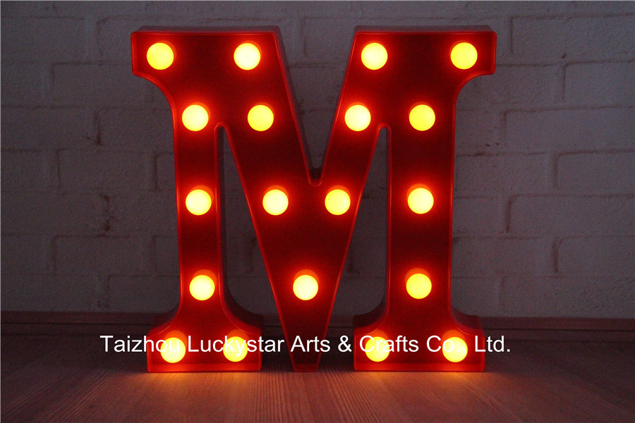 Letters LED Marquee Sign LIGHT UP Vintage alphabet Plastic night light wall lamps holiday Indoor Deration Free shipping