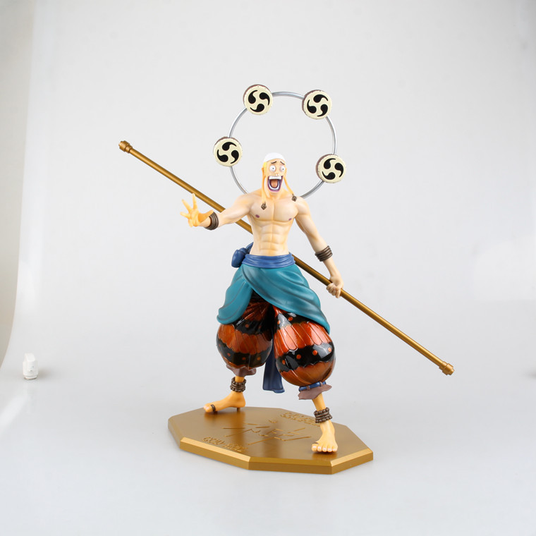 XINDUPLAN One Piece Anime Enel Onepiece New World Thunder Luffy Sky Piea Action Figure Toys 31cm PVC Collect Model Kid 0092 action figure one piece female emperor boa hancock 25cm pvc juguete op onepiece new world toys model cartoon doll japanese anime
