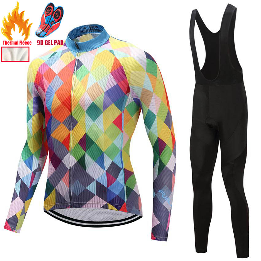 2018 Winter Cycling Clothing Man Winter Cycling Clothing Fleece MTB Bike Cycling Jersey Mens Sports Suits XS-3XL DT14