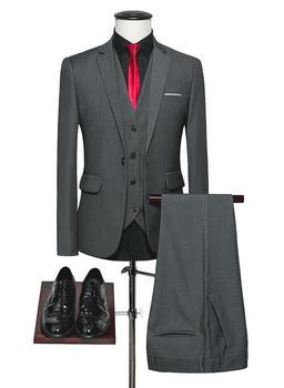 2017 Latest Coat Pant Designs Smoking Grey Black Men Suit Groom Wedding Suits Prom Blazer Slim Fit Custom Groom Tuxedo Ternos 07
