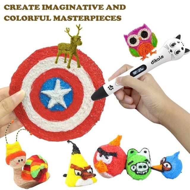 Dikale 12 Color 3D Printing Material 36m 72m 120m 3D Pen PLA Filament Refills Non-toxic Impresora 3D Stift Modeling Stereoscopic