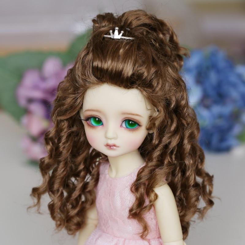 BJD WIG imitation Mohair wig hair brown 3 4 SD doll wigs 1pcs 25cm 100cm straight wig hair black brown khaki coffee color refires bjd dit wig hair for 1 3 1 4 dolls hair ep018