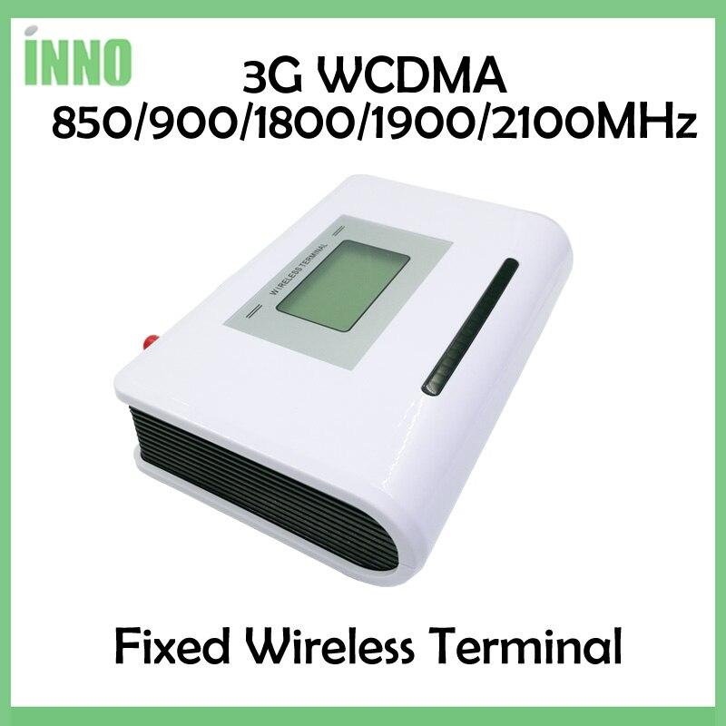 3 piezas 3G WCDMA terminal inalámbrico fijo 850/900/1800/1900/2100 MHz... apoyo alarma sistema PBX voz clara estable de la señal