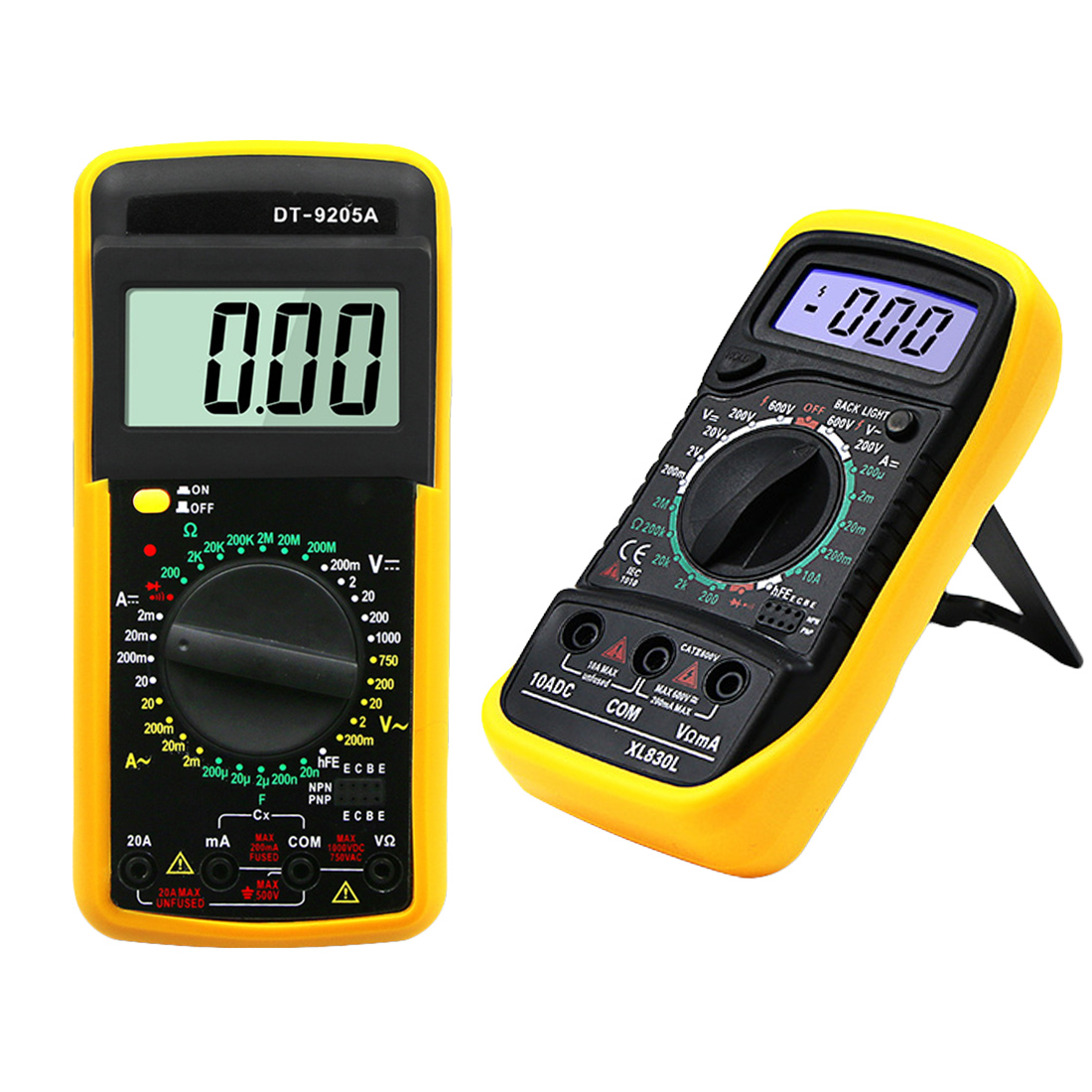 Kleine Haushalts Tragbare LCD Multimer Digital Multimeter Hintergrundbeleuchtung AC/DC Amperemeter Voltmeter Ohm Tester Meter Hohe Präzision