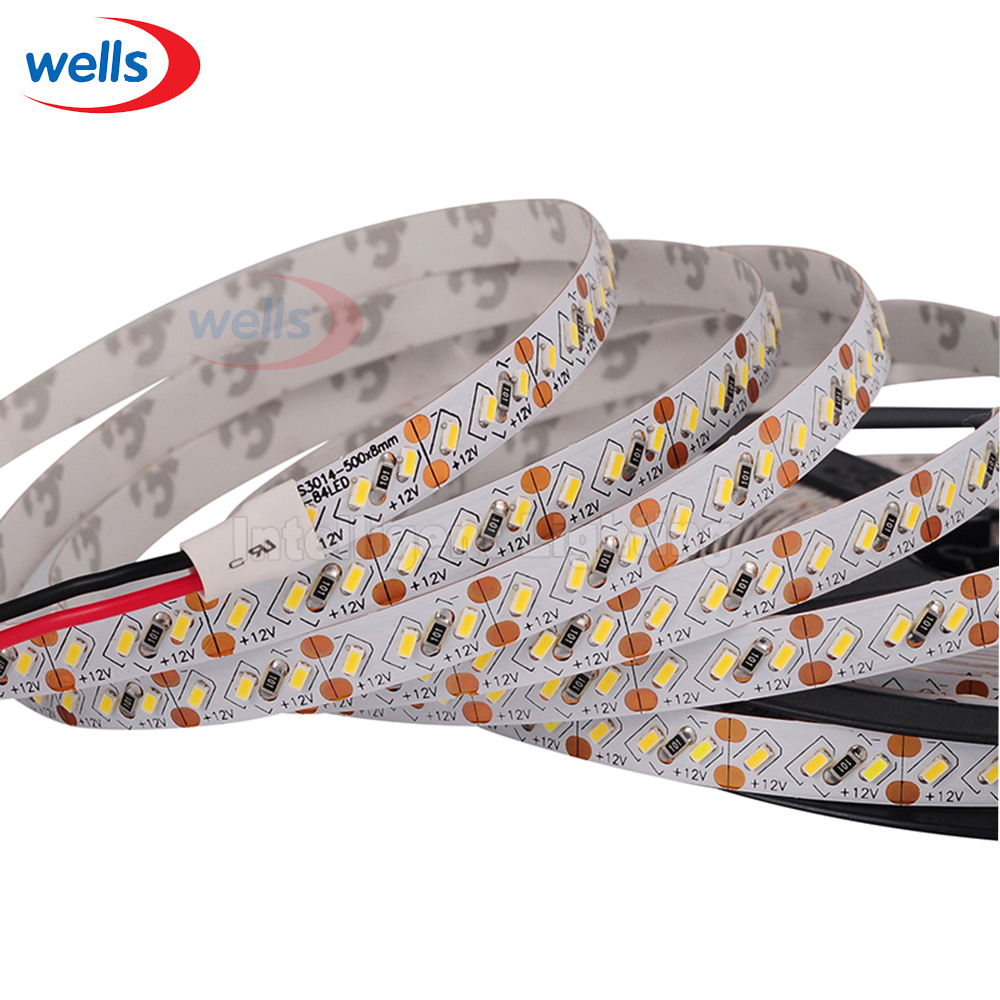 5M Superbright 8mm High Bright 3014 SMD 168leds / M Blanco / Blanco cálido LED Strip 12V DC # NP