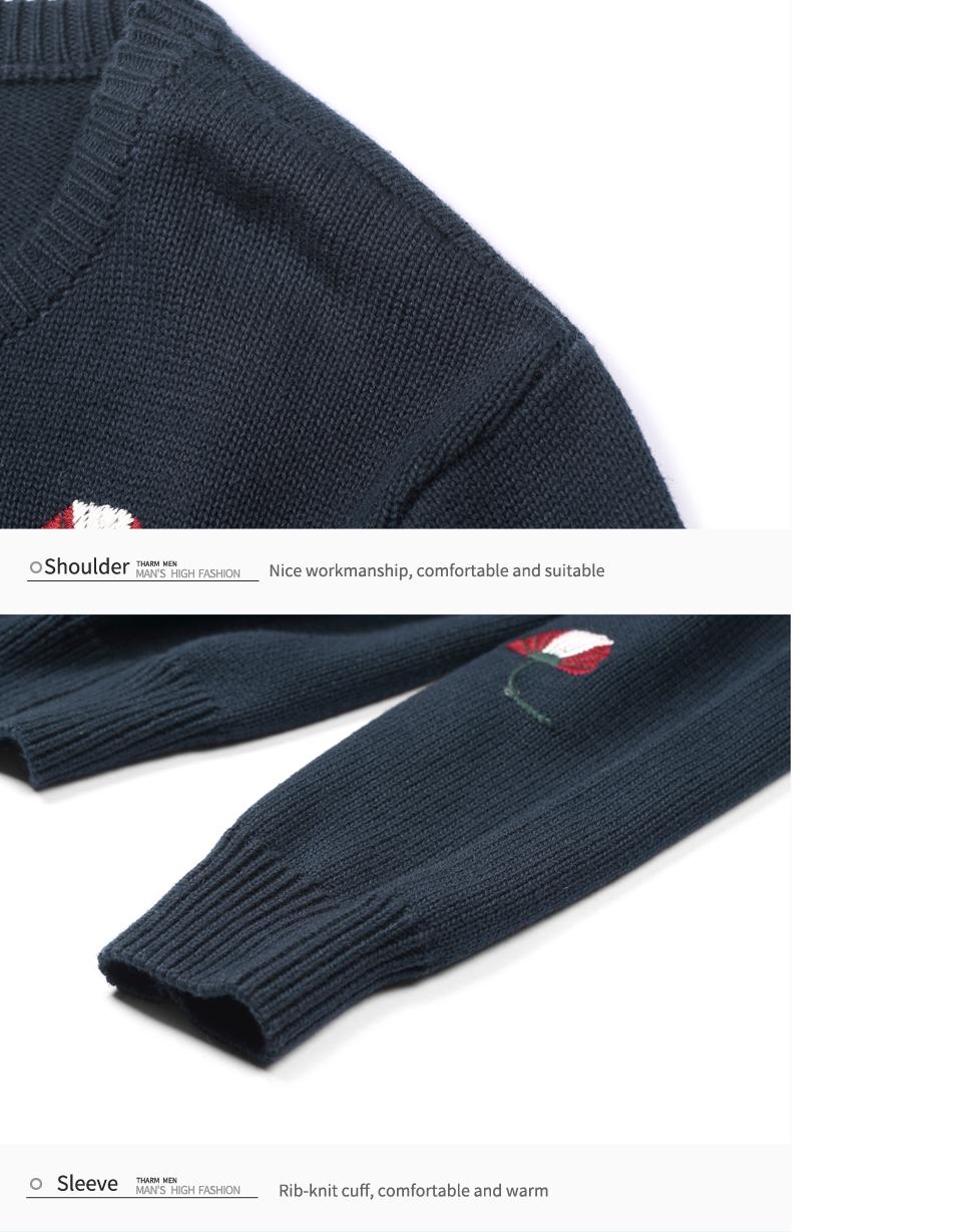 HTB1lIgFbRUSMeJjSszbq6zerFXac - Enjeolon brand top fall winter warm knitted pullovers Sweater man 100 Cotton pattern pullober o-neck pullover Sweater men MY3227
