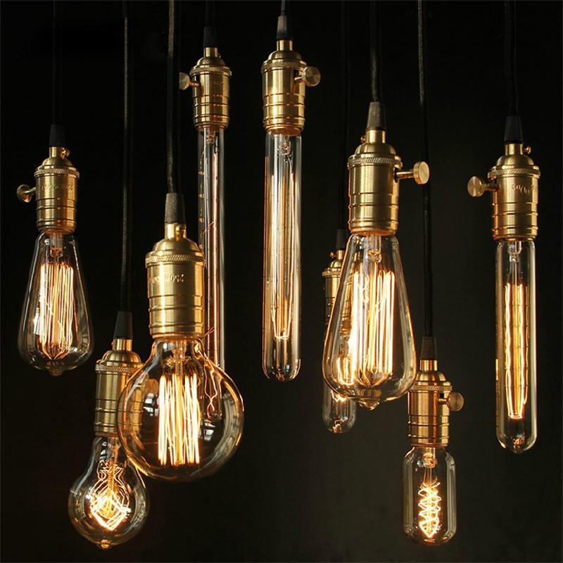 Lâmpadas Incandescentes ampola vintage g80 edison lâmpada Edison Incandescent Bulbs Base Tipo : E27 Incandescent Bulb