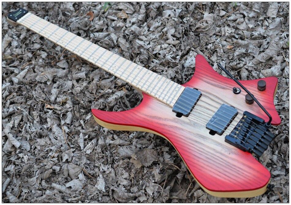 fanned fret guitars headless guitar style model blue burst color flame maple neck in stock. Black Bedroom Furniture Sets. Home Design Ideas