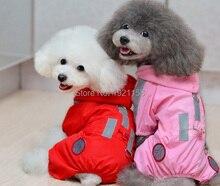 2016 New Pet Dog Cat Raincoat Clothes beautiful Puppy Glisten Jumpsuit Hoody Waterproof Rain Jackets