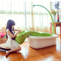 Large Baby Bathtub Cartoon Horse Water Scoop Baby Bath Tub With Strip Lying Plate