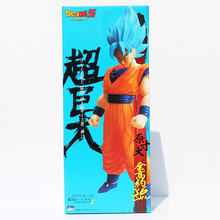 36cm Dragon ball Z Super Saiyan Son Goku Blue Hair PVC Action Figure